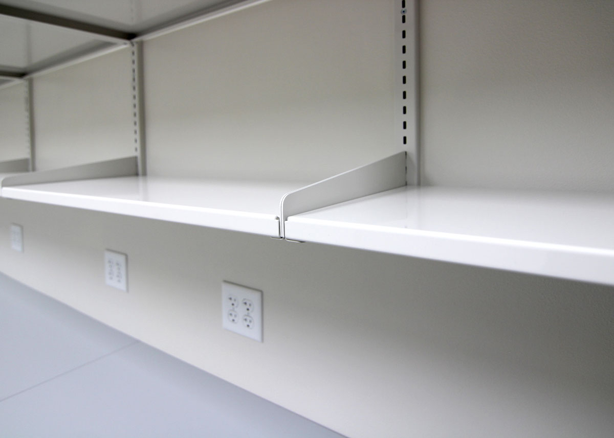 steel laboratory casework - a.t. villa - modular cabinets Basic Wall Shelves